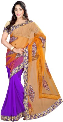 Kalash Sarees Self Design Fashion Net Sari