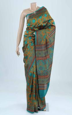 BEAUVILLE VAIIBAVAM Printed Tangail Printed Silk Sari
