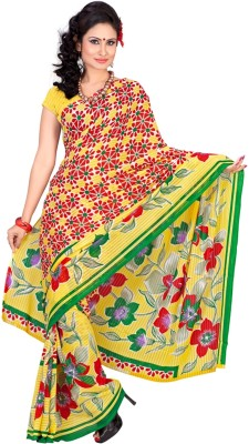 Zadine Floral Print Fashion Georgette Sari
