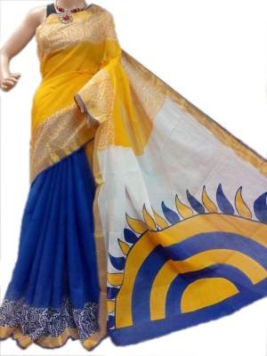 MCLS FASHION Printed, Floral Print, Self Design Fashion Cotton Sari