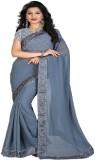 srk Solid Bollywood Georgette Saree (Gre...