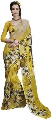 Akshaya Fashons Printed Daily Wear Georgette Sari
