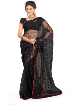 Dhnet Embriodered Fashion Net Sari