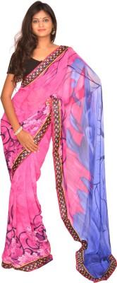 Jagadamba Printed Bollywood Georgette Sari