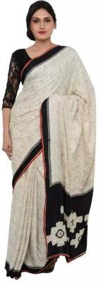 Samadhi Sarees Woven Bollywood Crepe Sari
