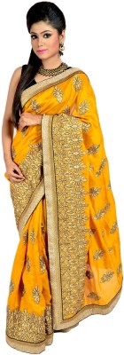 Vogue4all Embriodered Fashion Art Silk Sari