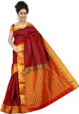 BrindavanSilks Woven Fashion Art Silk Sa...