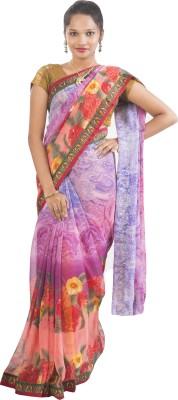 Connectshop Printed Bhagalpuri Handloom Raw Silk Sari