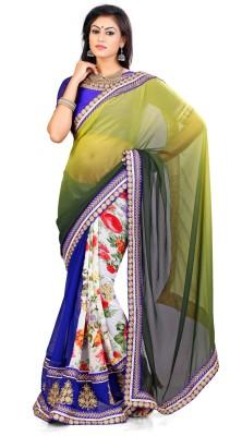 Indian Saree Self Design Bollywood Georgette Sari