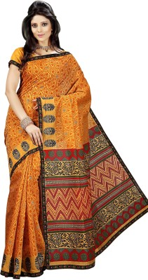 Roop Kashish Geometric Print Cotton Sari