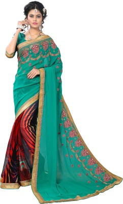 Vastrani Embriodered Fashion Georgette Sari