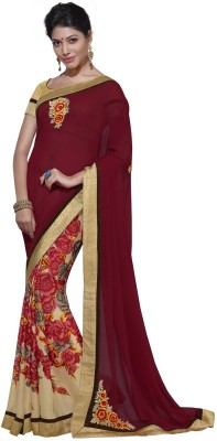 INETHNIC Embriodered Fashion Georgette Sari