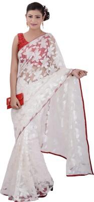 Inblue Fashions Solid Fashion Brasso Sari