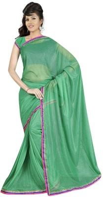 Abhinav Fashion Solid Fashion Lycra Sari