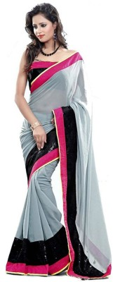 Kenil Fabrics Embriodered Bollywood Chiffon Sari