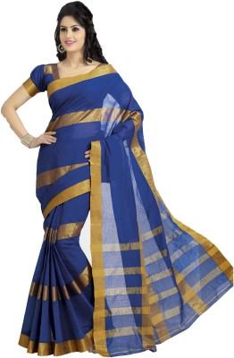 Signature Fashion Striped Daily Wear Cotton Sari