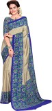 DESIGN WILLA Printed Bollywood Crepe Sar...