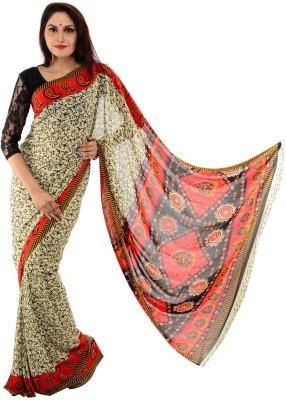 Samadhi Sarees Floral Print Daily Wear Synthetic Sari