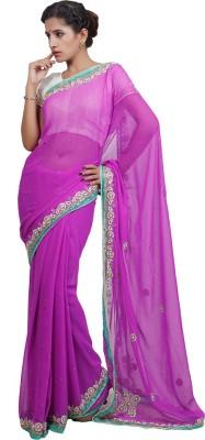 Adaab Embriodered Fashion Chiffon Sari