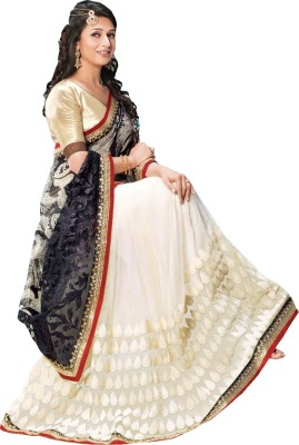 Fashionsurat Embriodered Fashion Satin Sari