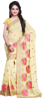 Yash Fashion Of Embrodery Self Design Bollywood Pure Georgette Sari