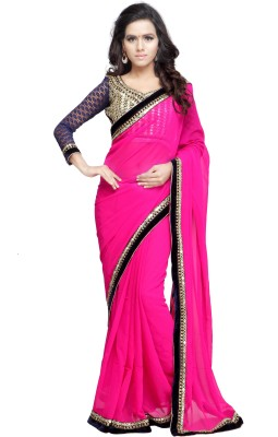 Chandra Silk Mills Embriodered Bollywood Art Silk Sari