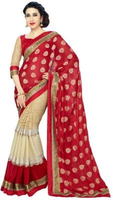 Hanscreation Embriodered Daily Wear Jacquard Sari