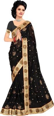 Priyanshu Creation Self Design Bollywood Georgette Sari