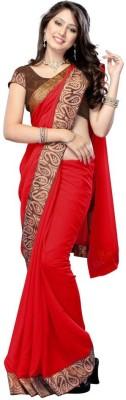 Porcupine Self Design Bollywood Chiffon Sari