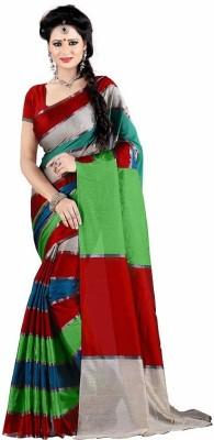 Harsh Sarees Striped Fashion Handloom Cotton Sari