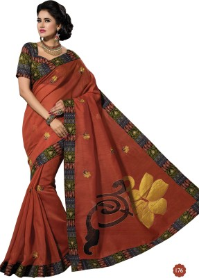Dhruvi Boutique Self Design Fashion Cotton Sari