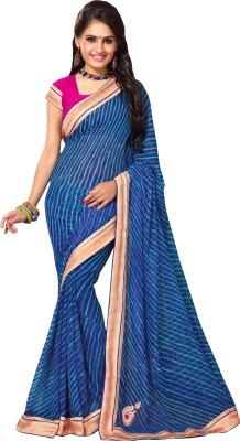 Jayanshi Self Design Leheria Georgette Sari