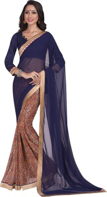 Vbuyz Printed Fashion Georgette, Chiffon Sari