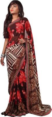 Aifaa Striped Fashion Pure Georgette Sari
