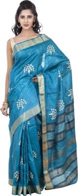 Kalaniketan RJP Group Embriodered Fashion Handloom Tussar Silk Sari