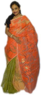 Fashion Gallery Embriodered Jamdani Handloom Cotton Sari