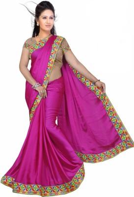 Premvati Solid, Embriodered Fashion Handloom Cotton Sari