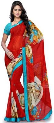 Awesome Fab Printed Fashion Chiffon Sari