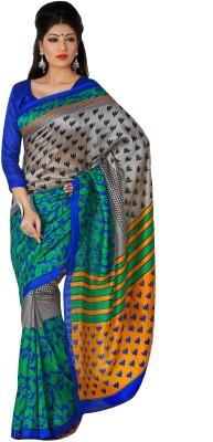 365 Labels Printed Berhampuri Art Silk Sari