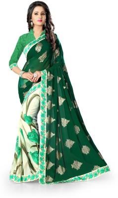 Ak Fashion Floral Print Daily Wear Georgette Sari