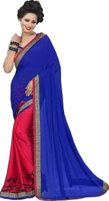 Gaurangi Creations Self Design Fashion Satin Sari