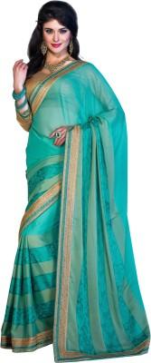 Crafts N Culture Embriodered Fashion Pure Chiffon Sari
