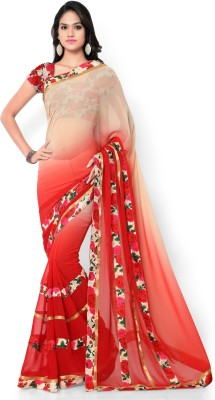 Shree Parmeshwari Self Design Fashion Pure Georgette Sari