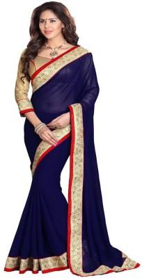 SayShopp Embriodered Bollywood Chiffon Sari