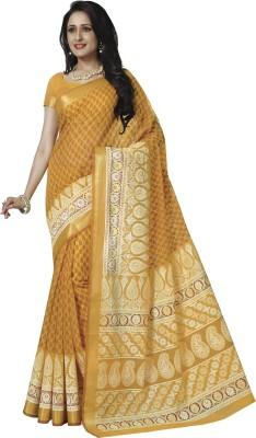Rajguru Rise Floral Print Gadwal Handloom Cotton Sari