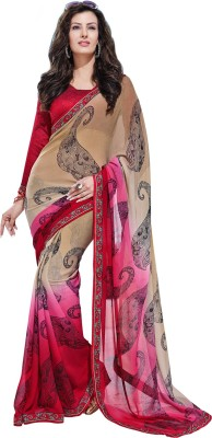 Ethnic For You Printed Daily Wear Georgette Sari