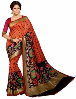 Define Jewellery Self Design Bollywood Art Silk Sari