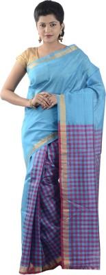 Mangalagiri Pattu Checkered Fashion Silk Sari