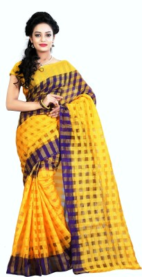 PerfectBlue Self Design Bhagalpuri Cotton Sari