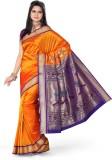 Ishin Solid Fashion Art Silk Saree (Oran...